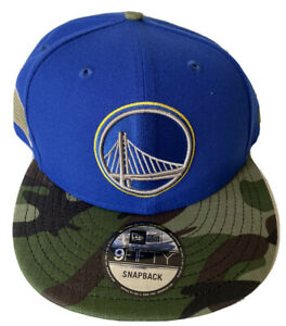 NEW ERA GOLDEN STATE WARRIORS HAT OS SNAPBACK CAMO MEMORIAL DAY DS RETRO 9FIFTY