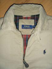 Ralph Lauren Polo Windbreaker Jacket Khaki Plaid Pony Man Logo Vintage Tartan NR