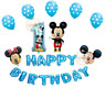 Happy 1st Birthday Blue Foil Balloons Latex ballons Party decoration baloon UK