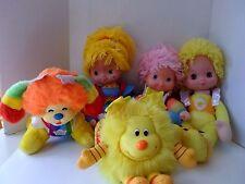 Vintage Mattel Rainbow Brite Hallmark Collection Hallmark Plush Dolls Lot of 5