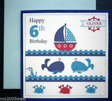 Birthday, Child Blue Hand-Made Cards
