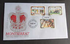 Royalty Montserratian First Day Cover Stamps