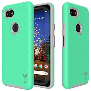 CoverON Slim Protective Hybrid Rugged Series for Google Pixel 3A Mint Teal
