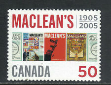 Canada 2005 Maclean's Magazine 100th Anniversary--Attractive Topical (2104) MNH