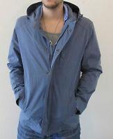 New Dockers Men Hooded Full Zip Jacket/Windbreaker Blue