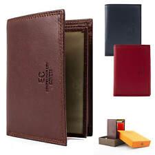 Portafoglio Uomo in Pelle Verticale Slim Porta Carte di Credito con Portamonete