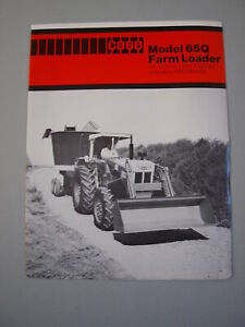 Case 65Q Farm Loader (for David Brown 1210 1410 Tractor) Brochure 4 pg. MINT '79