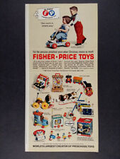 1964 Fisher-Price Toys coaster popper telephone register vintage print Ad