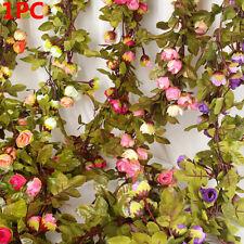 Garden Fences Fake Ivy Vine Hanging Garland Artificial Flowers Silk Rose Flower