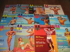 Lot Of 12 Muscular Development Bodybuilding Magazines/1970 COMPLETE YEAR