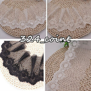 1 Yard 13cm Wide Embroidered Lace Trim Ribbon for Costume Sewing Crafts DIY HB50