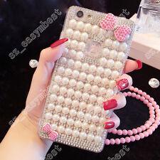 Lovely Glitter Bling Diamonds TPU + PC Shell Back Case Cover Skin For Cell Phone