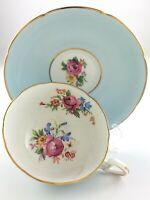 Vintage Teacup and Saucer Royal Grafton Fine Bone China England Flowers T389