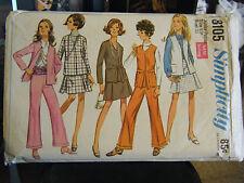 Vintage Simplicity 8105 Junior Petite Jackets, Skirt & Pants Pattern - Size 9JP