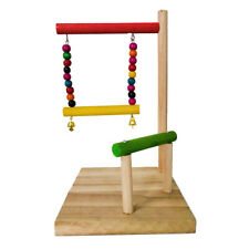 Parrot Bird Climbing Stand Perch Stand Wood Birds Chew Toys Cage Swing Toys