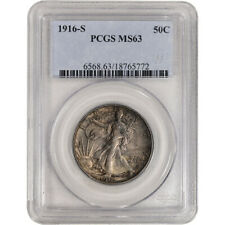 1916-S US Walking Liberty Silver Half Dollar 50C - PCGS MS63