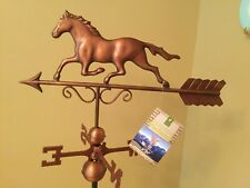 Good Directions Copper Bronze Patina Galloping Horse Weathervane - 1974Brn w/Rm