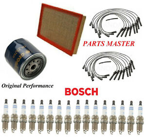 Tune Up Kit Air Oil Filters Wire Spark Plugs Fit DODGE RAM 1500 V8 5.7L 03-05