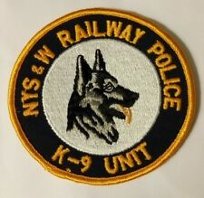 New York Susquehanna & Western RAILROAD Police Patch Section Combined Postage