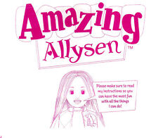 Playmates Amazing Allysen Copy of Instruction Manual- PDF- Emailed To You