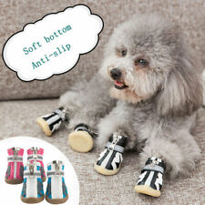 4Pcs Reflective Dog Shoes Softsole Shoes Breathable Mesh Anti-slip Puppy Boots
