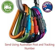 Aluminum Carabiner D-Ring Screw Key Chain Clip Snap Hook Camping Keyring NEW