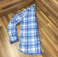 """Mens Jack Wills Blue Check Cotton Shirt Long Sleeved 42"""" Chest 28"""" Length"""