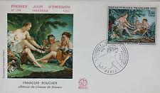 ENVELOPPE PREMIER JOUR - 9 x 16,5 cm - 1970 - FRANCOIS BOUCHER - N° 734