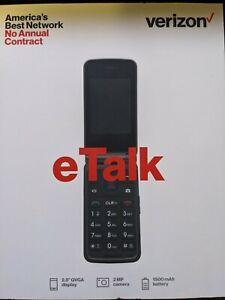 Verizon Wireless Prepaid eTalk Flip Phone Gray 1.1 GHz Quad-Core Brand New