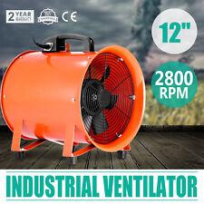 """12"""" Industrial Fan Ventilator Fume Extractor Blower Workshop Utility W/ Handle"""