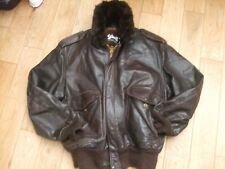 Awesoms Schott A2 NYC Leather flight bomber jacket XL, 50