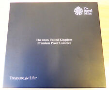 UK Royal Mint 2016 Premium Proof Coin set . . . . (complete in original box).  .