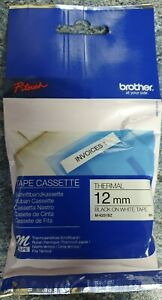 Brother P-Touch M Tape 12mm Black /White MK231BZ