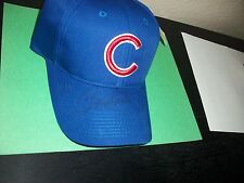 CUBS BASEBALL HAT SIGNED BY RON SANTO