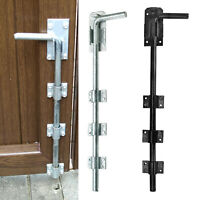 Drop Bolt Gate Garage Door Heavy Duty Long Black Galvanised Garden Metal