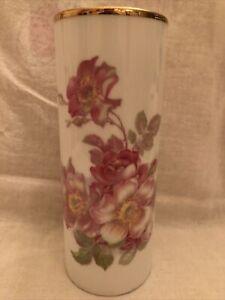 Red /& Gold Toned Porcelain Pitcher Vase Feldkirch Gerold Porzellan