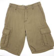 Tommy Bahama Jeans Tan Cargo Shorts Size 32 Cotton Heavy Woven Textured Outdoor