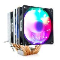 Snowman 6 Heat Pipes Cpu Cooler 4 Pin Pwm Rgb Pc Quiet Intel Lga 2011 775 1200 1
