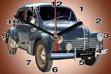 WALL CLOCK, RENAULT 4CV -01M, 11,8x 7,8 inches Car - Passenger and aluminium