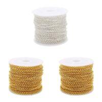 3x 10 Yards / Roll Gold Halskette Ketten Anhänger Verbindungskabel Für Die
