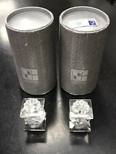 Pair of Swarovski Crystal 7600 102 Candle Holder with original Box