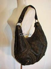 ISABELLA FIORE CHAIN ANGELICA HOBO BAG BLACK
