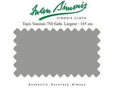 Tapis drap de billard 7Ft 210x165 US Simonis 760 gris