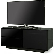 Centurion Supports GALLUS ULTRA Beam-Thru Gloss Black 2-Black Drawers TV Stand