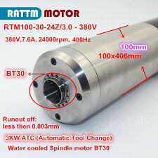380V 3KW water cooled ATC(Automatic Tool Change)Spindle motor BT30 for engraving