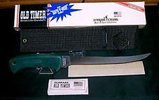 "Schrade 147OT Fillet Knife Old Timer ""Safe-T-Grip"" Circa 1993 W/Packaging,Papers"