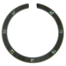 KAISH Guitar Soundhole Rosewood Rosette with Square Abalone Inlay 110*12*0.8mm