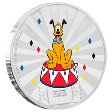 Niue - 2 Dollar 2019 - Pluto™ - Mickey Mouse & Friends (5.) - 1 Oz Silber PP