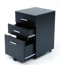 Cassettiera vari uso Colore Nero 3 cassetti e serratura Con Ruote ufficio
