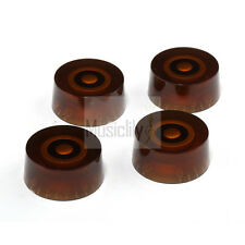 4Pcs Amber Metric Size Plastic Speed Control Knobs For Les Paul Epiphone Guitar